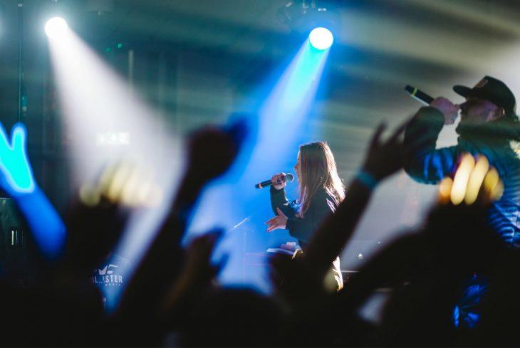 Vital Signs performing at a gig