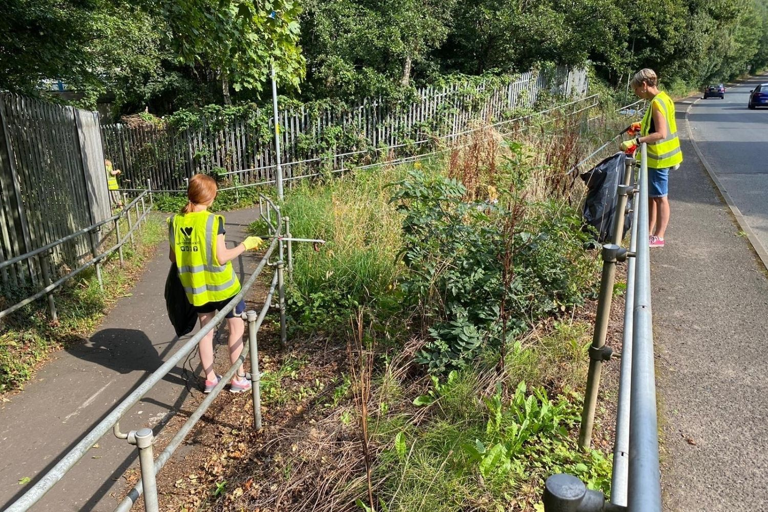 Clearing Litter in Wythenshawe